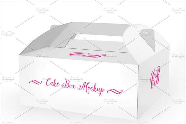 Cake Box Photo Realistic Mockup