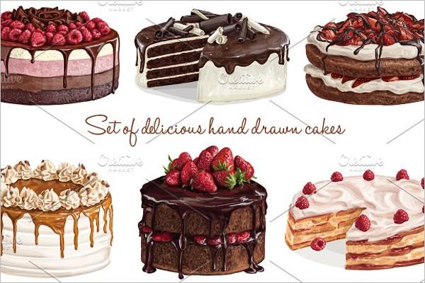 Cake Sketch Template