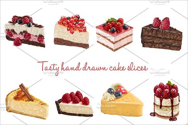 Cake Vector Template