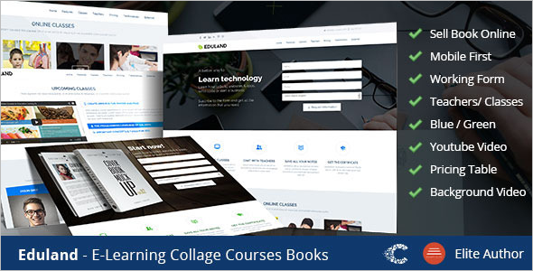 Campus Education Landing Page Template