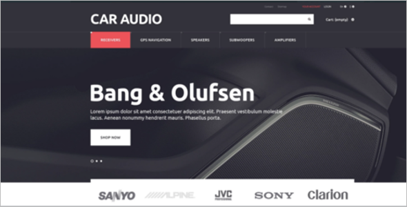 Car Audio PrestaShop Theme