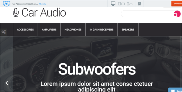 Car Audio Store Prestashop Theme