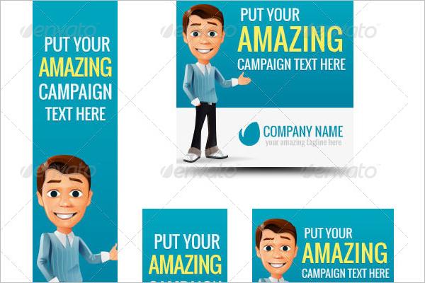 Cartoon Banner Business Template