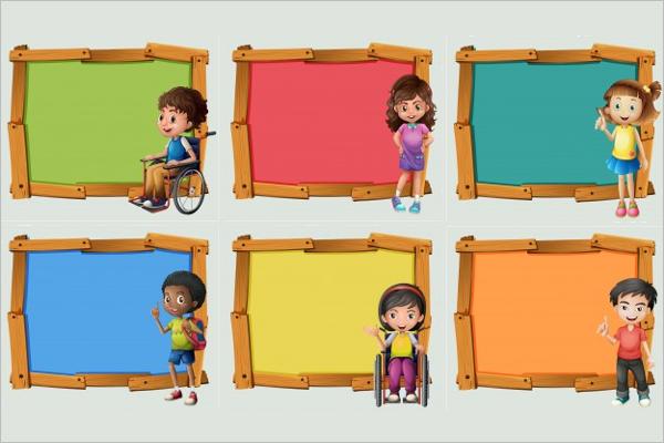 Cartoon Children Banner Template