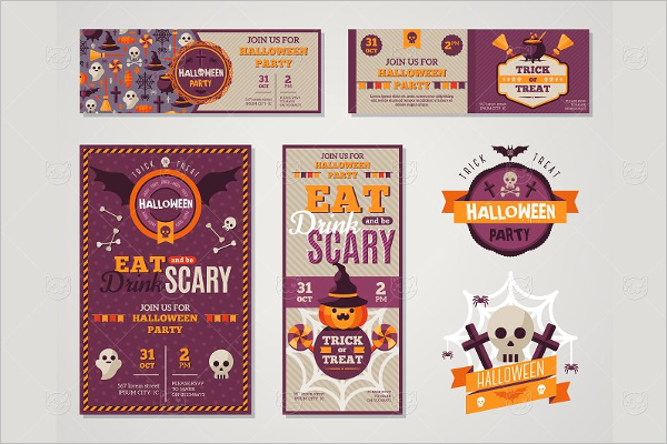 Cartoon Halloween Banner Template