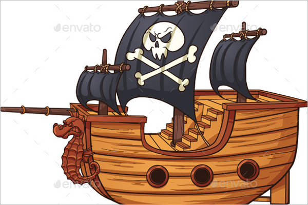 Cartoon Pirate Ship Design