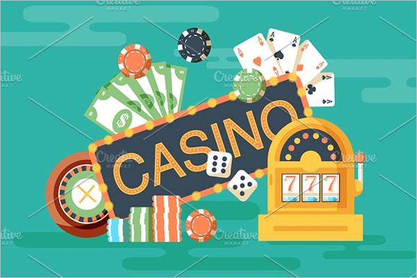 Casino Backdrop Banner Design