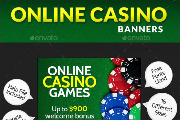 Casino Banner Marketing Template