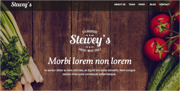 Catering Meals WordPress Theme