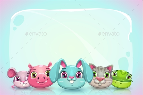 Catoon Animal Banner Template
