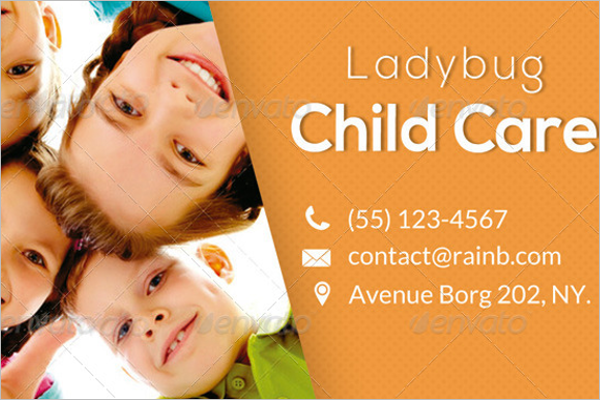 Child Care Business Card PSD