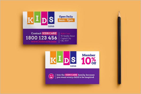 Children Care Business Care Template