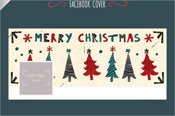 Christmas Trees Facebook Cover Template