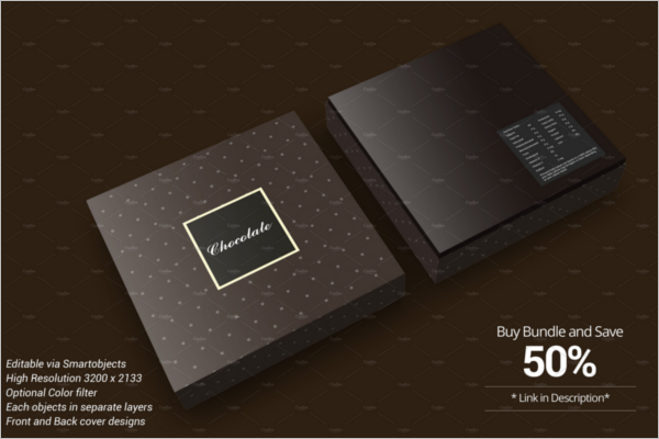 Chocolate Gift Box Design Template