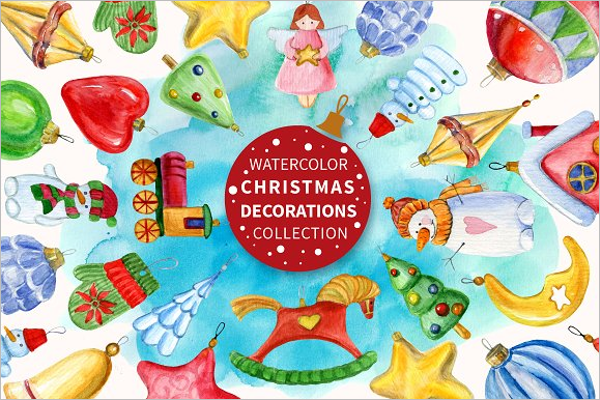 Christmas Decorations Set Design