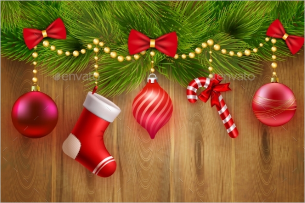 Christmas Greeting Banner Template