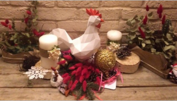 Christmas Rooster Decoration Template