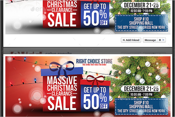 Christmas Sale Facebook Timeline Cover