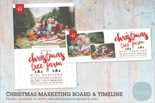 Christmas Tree Marketing Banner Design