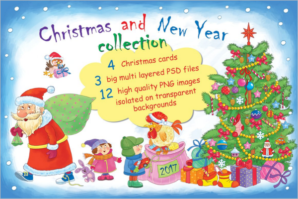 Christmas and New Year collection Template