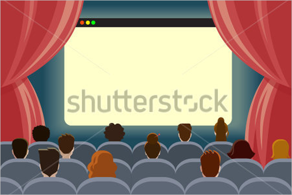 Cinema Curtain Mockup Template