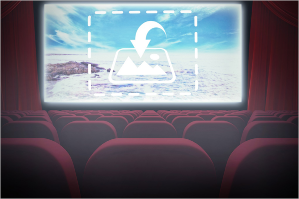 Cinema Screen Graphic Mockup