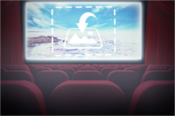 Cinema Screen Graphic Mockup