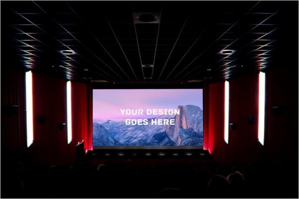Cinema Screening Room Mockup