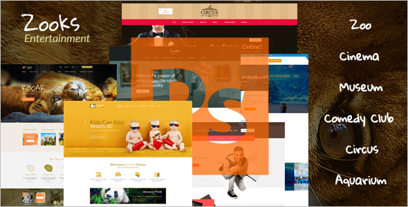 Circus Animals WordPress Theme