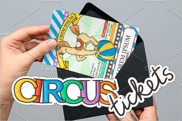 Circus Ticket Template