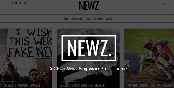 Clean News WordPress Theme