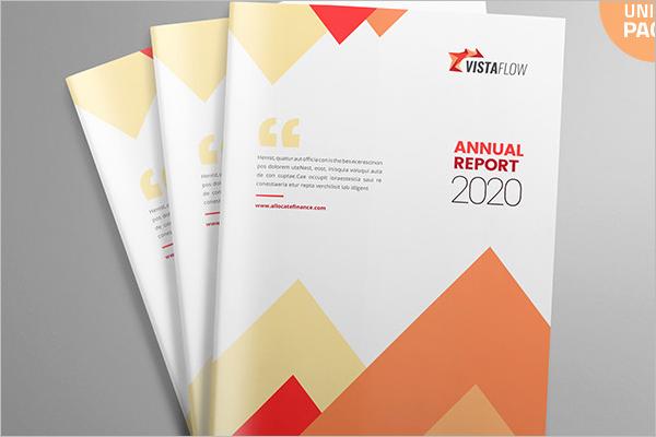 Clean Report Brochure Template