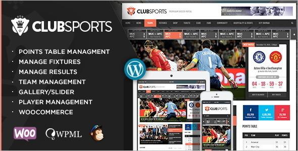 Club Sport WordPress Template