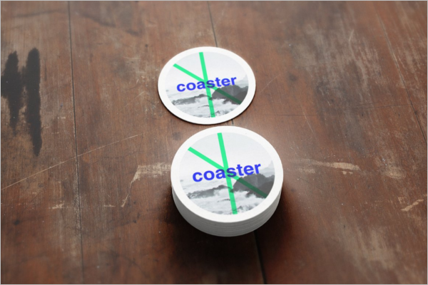 Coaster Badge Mockup Design