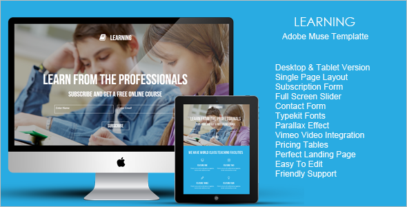 College Landing Page Template
