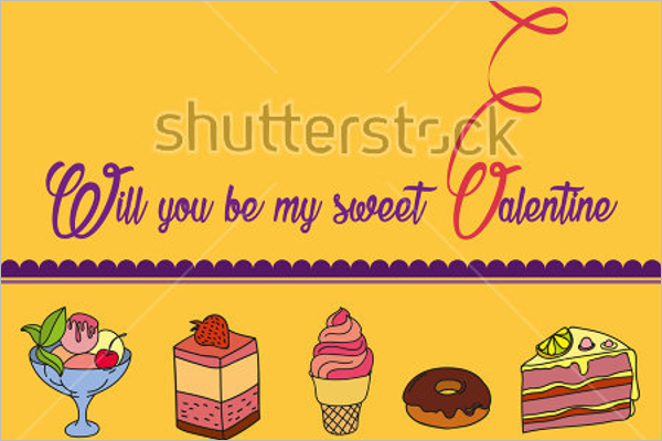 Colorful Ice Cream Marketing Post Card