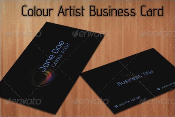 Colour Artist Business Card