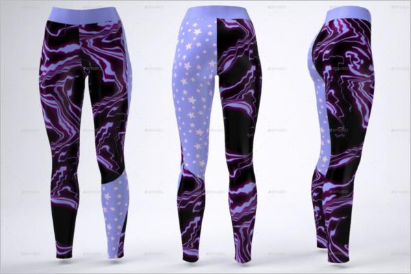 Colourful Leggings Mockup Template