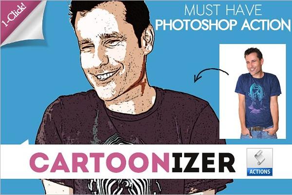 Comic Cartoon Photoshop Template