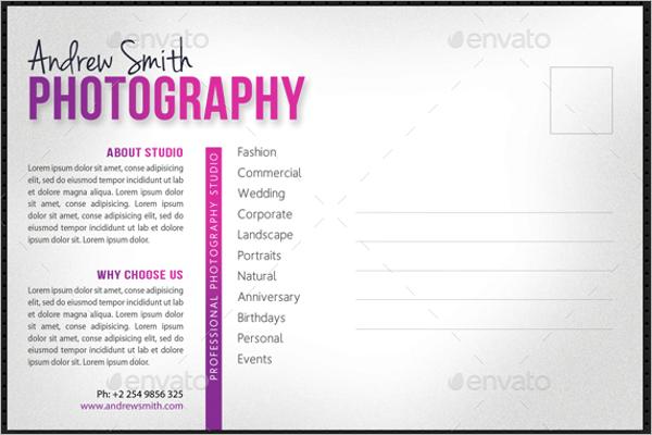 CommercialPhotography Postcard DesignCommercialPhotography Postcard Design