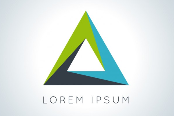 Company Triangular Logo Template