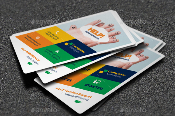 Computer Accessories Business Card Template