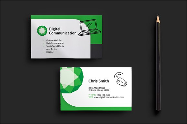 Computer repair business card templates free premium computer repair visiting card template accmission Image collections