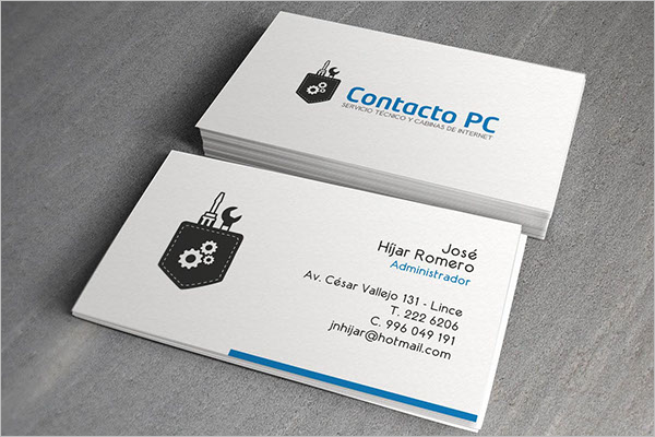 Computer Business Card Template