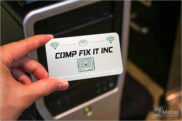 Computer Visiting Card Design