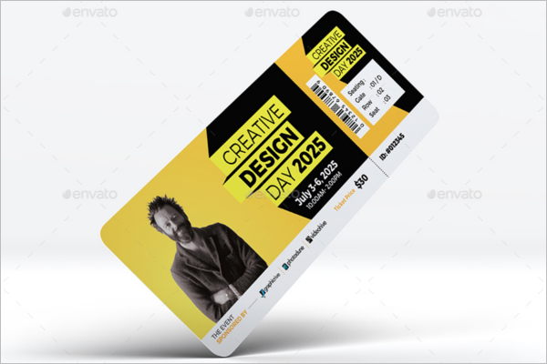 Conference Event Ticket Template
