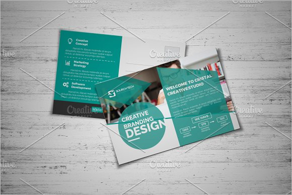 Construction Business Postcard Template