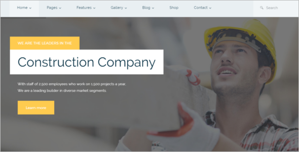 Construction Design WordPress Design