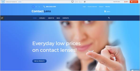 Contact Lens Business VirtueMart Template