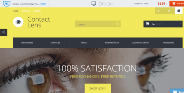 Contact Lens Technology PrestaShop Theme